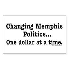 Changing Memphis Politics Rectangle Decal