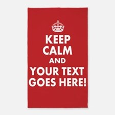 Personalized Keep Calm and Mockingjay 3'x5' Area R