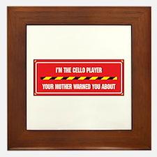 I'm the Cello Player Framed Tile