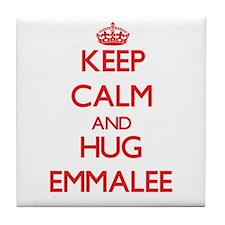 Keep Calm and Hug Emmalee Tile Coaster