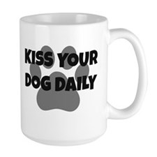 BigPaw Kiss Your Dog FunFont Mugs