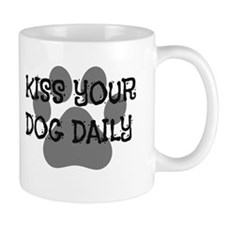 Kiss Your dog Fun Font Mugs