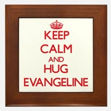 Keep Calm and Hug Evangeline Framed Tile