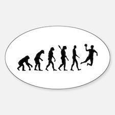 Evolution Handball Sticker (Oval)