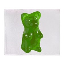 Green Gummy Bear Throw Blanket