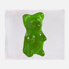 Green Gummy Bear Throw Blanket