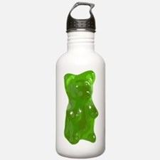 Green Gummy Bear Sports Water Bottle