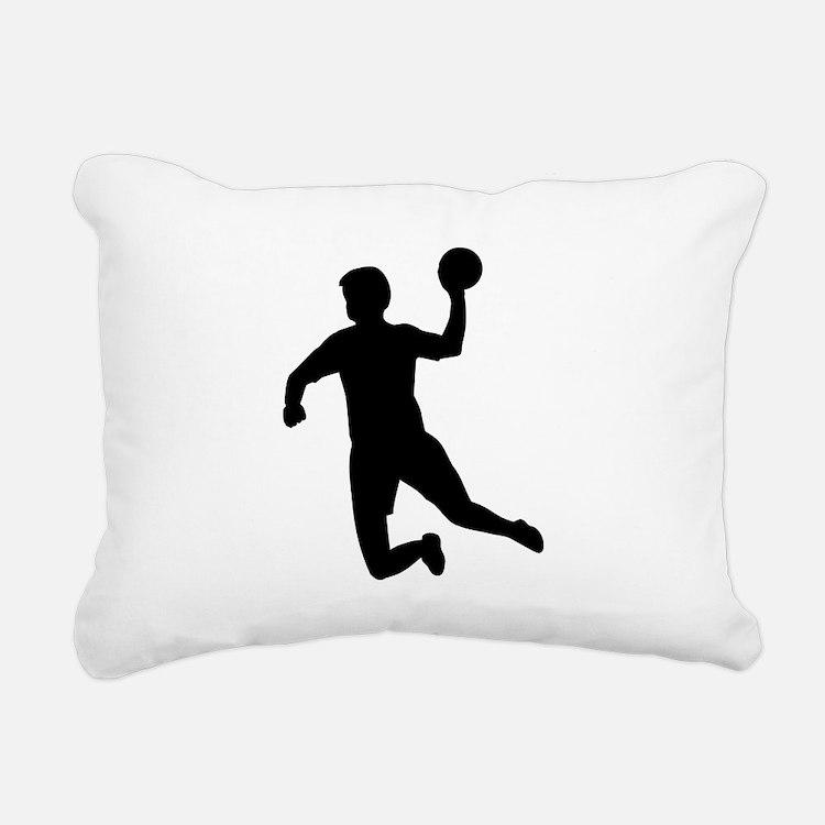 Handball player Rectangular Canvas Pillow