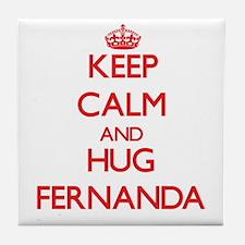 Keep Calm and Hug Fernanda Tile Coaster