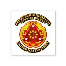 """3rd Surgical Hospital with Text Square Sticker 3"""""""