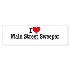 I Heart Main Street Sweeper Bumper Bumper Sticker