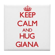 Keep Calm and Hug Giana Tile Coaster