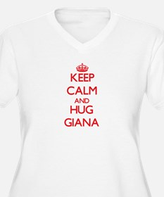 Keep Calm and Hug Giana Plus Size T-Shirt