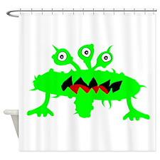 Green Alien Shower Curtain