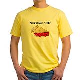 Cherry pie Mens Yellow T-shirts