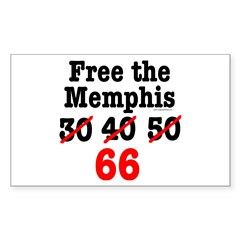 Free the Memphis 66 Rectangle Decal