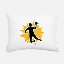 Dodgeball player Rectangular Canvas Pillow