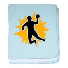 Dodgeball player baby blanket