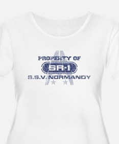 SSV Normandy SR-1 (Blue-Grunge) Plus Size T-Shirt
