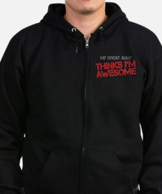 Great Aunt Awesome Zip Hoodie