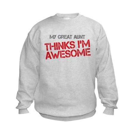 Great Aunt Awesome Kids Sweatshirt
