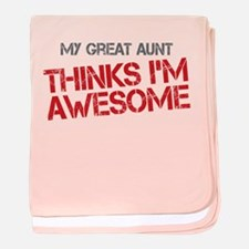 Great Aunt Awesome baby blanket