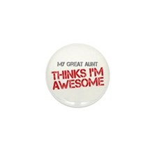 Great Aunt Awesome Mini Button (10 pack)