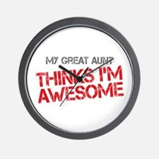 Great Aunt Awesome Wall Clock