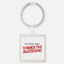 Great Aunt Awesome Square Keychain