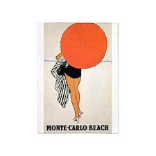 Monte Carlo, Umbrella, Travel, Vintage Poster 5'X7