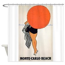 Monte Carlo, Umbrella, Travel, Vintage Poster Show