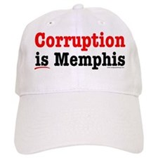 Corruption is Memphis Baseball Baseball Cap