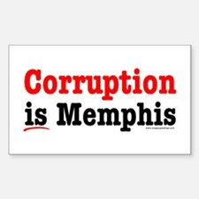 Corruption is Memphis Rectangle Decal