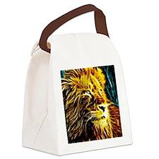 Glow Lion (Blue) Canvas Lunch Bag