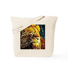 Glow Lion (Blue) Tote Bag
