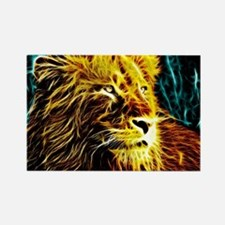 Glow Lion (Blue) Rectangle Magnet