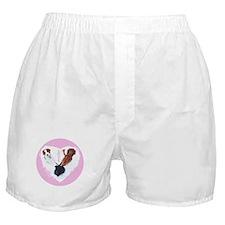 3 Dogs = Love (Pink Circle) Boxer Shorts
