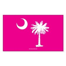 SC Palmetto Moon State Flag Pink Decal