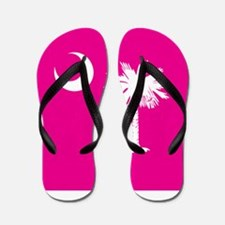 SC Palmetto Moon State Flag Pink Flip Flops