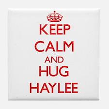 Keep Calm and Hug Haylee Tile Coaster