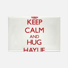 Keep Calm and Hug Haylie Magnets