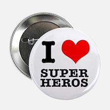 "I Heart (Love) Super Heros 2.25"" Button (100 pack)"