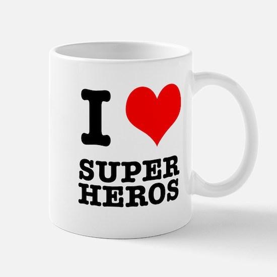 I Heart (Love) Super Heros Mug