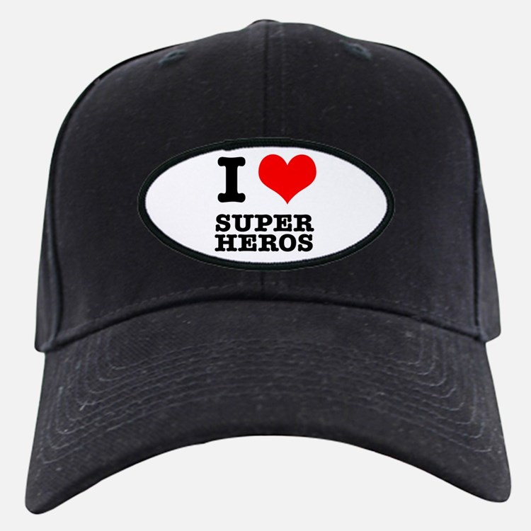 I Heart (Love) Super Heros Baseball Hat