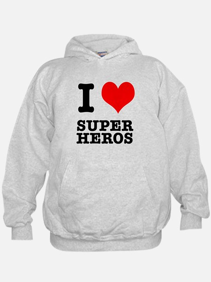 I Heart (Love) Super Heros Hoodie