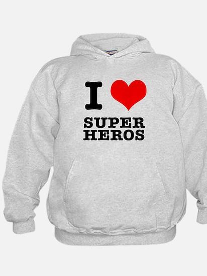 I Heart (Love) Super Heros Hoody