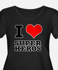 I Heart (Love) Super Heros T