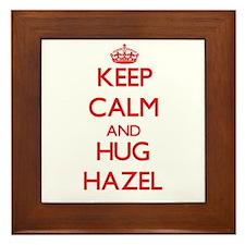 Keep Calm and Hug Hazel Framed Tile