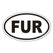 FUR Euro Oval Decal