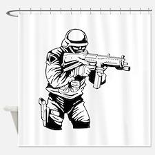 SWAT Team Officer Shower Curtain